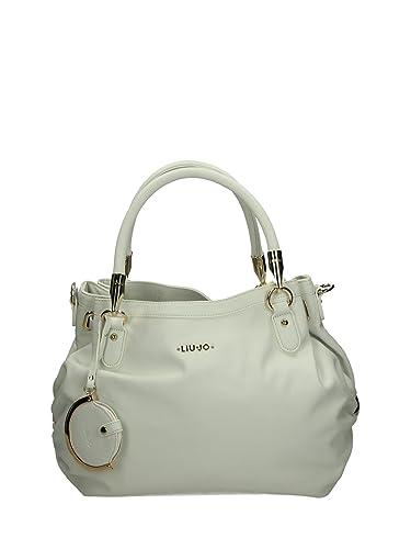 32de9aba821 LIU JO ITALY Women's LIU JO Sopping M Claire Glass Tote Bag White WHITE 35  x 27 x 15 cm: Amazon.co.uk: Shoes & Bags