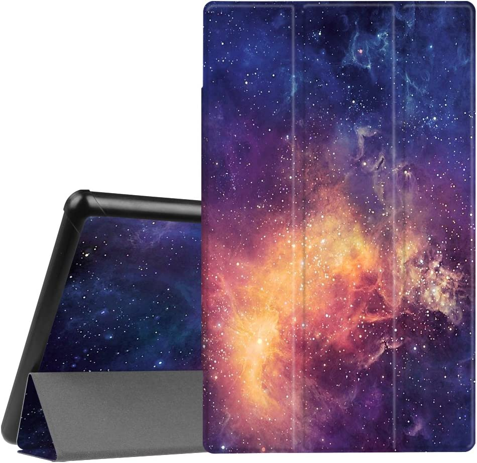 Fintie Slim Case for All-New Amazon Fire HD 10 Tablet (Compatible with 7th and 9th Generations, 2017 and 2019 Releases) - Ultra Lightweight Protective Stand Cover with Auto Wake/Sleep, Galaxy