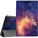 Fintie Slim Case for All Amazon Fire HD 10 Tablet (7th Generation, 2017 Release) - Ultra Lightweight Protective Stand Cover with Auto Wake/Sleep for Fire HD 10.1 Inch Tablet, Galaxy