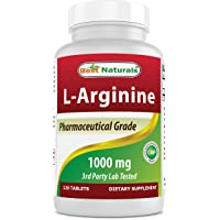 (New Improved Formula) Best Naturals L-Arginine 1000 mg 120 Tablets - Pharmaceutical...
