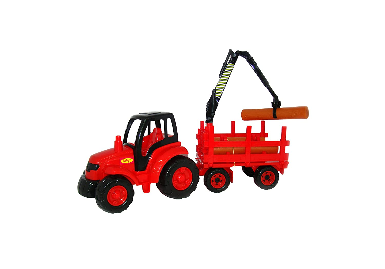 Polesie 8229 Champion, Tractor with Timber Trailer-Toy Vehicles, Multi Colour PP POLESIE JV LTD. Polesie_8229