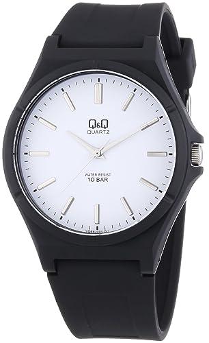 Q&Q VQ66J001Y - Reloj analógico de cuarzo para hombre con correa de plástico, color negro