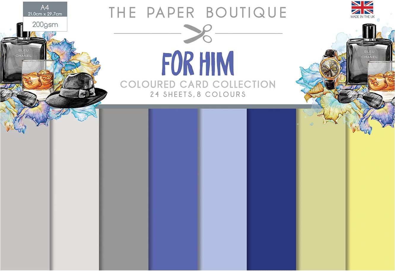 The Paper Boutique for Him Colour Card Collection