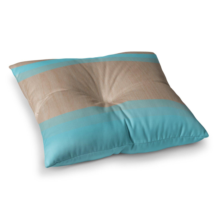 KESS InHouse Brittany Guarino Art Blue Aqua Wood Square Floor Pillow, 26'' x 26''