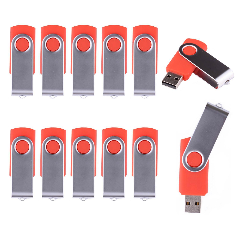 LHN/® Bulk 5 Pack Pink 16GB Swivel USB Flash Drive USB 2.0 Memory Stick