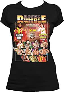 WWE Royal Rumble Player Select Official Women's T-Shirt (Black) (Medium)
