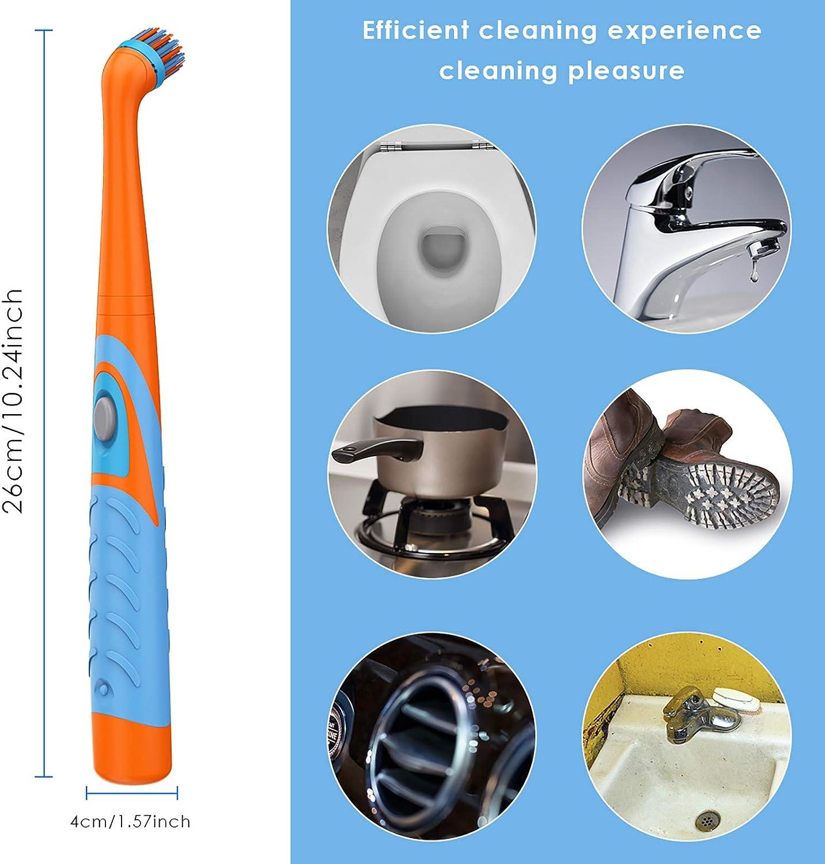 per bagno Spazzola elettrica 4 in 1 per la pulizia delle piastrelle senza fili cucina Rehomy