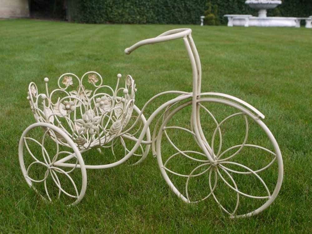 BRILLIANT Pequeño Decorativo Bicicleta Triciclo Macetero ...