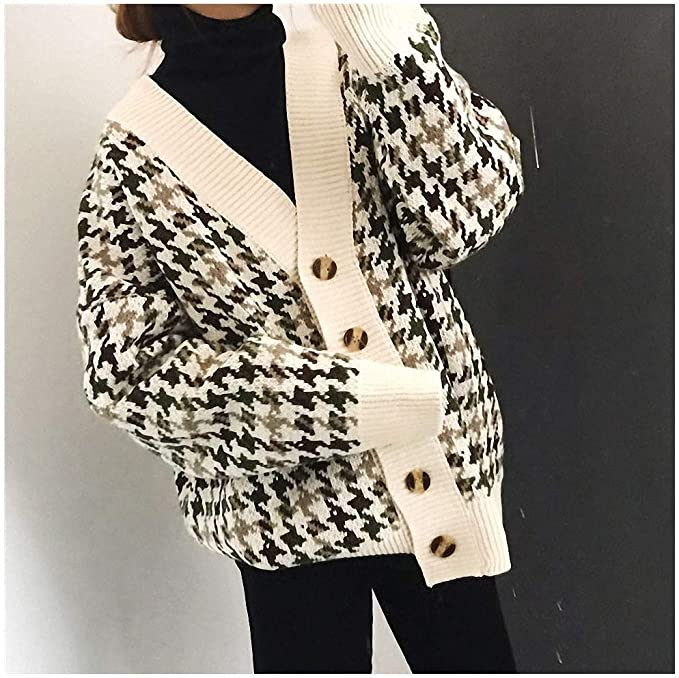 Xileg Autumn Winter Lattice Knitted Long Cardigans Loose