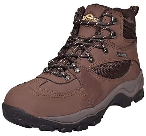 56075091a3f Northwest Territory Mens Terrain Lace UP Premium Leather Upper Waterproof  Walking/Hiking Trekking Boot