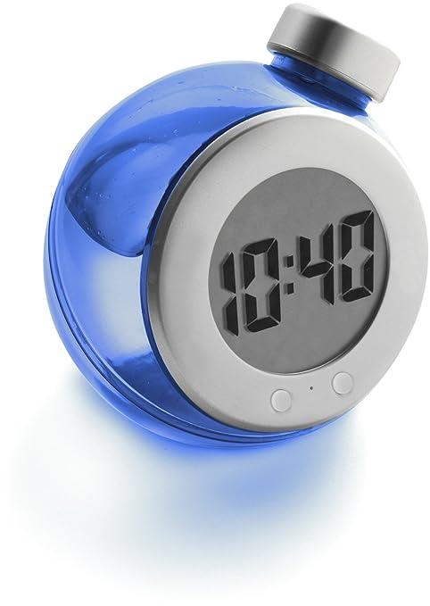 Wiki Eco - Reloj con forma de botella, funciona con agua, color gris