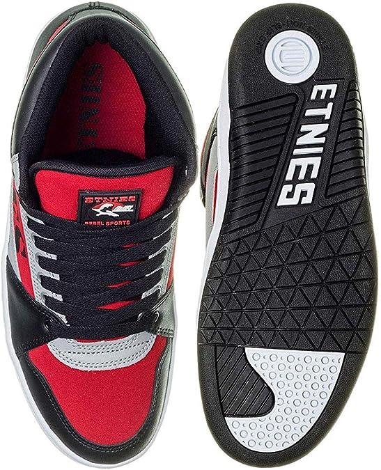 Etnies Men's MC Rap Hi Top Sneaker Shoes BlackRedGray