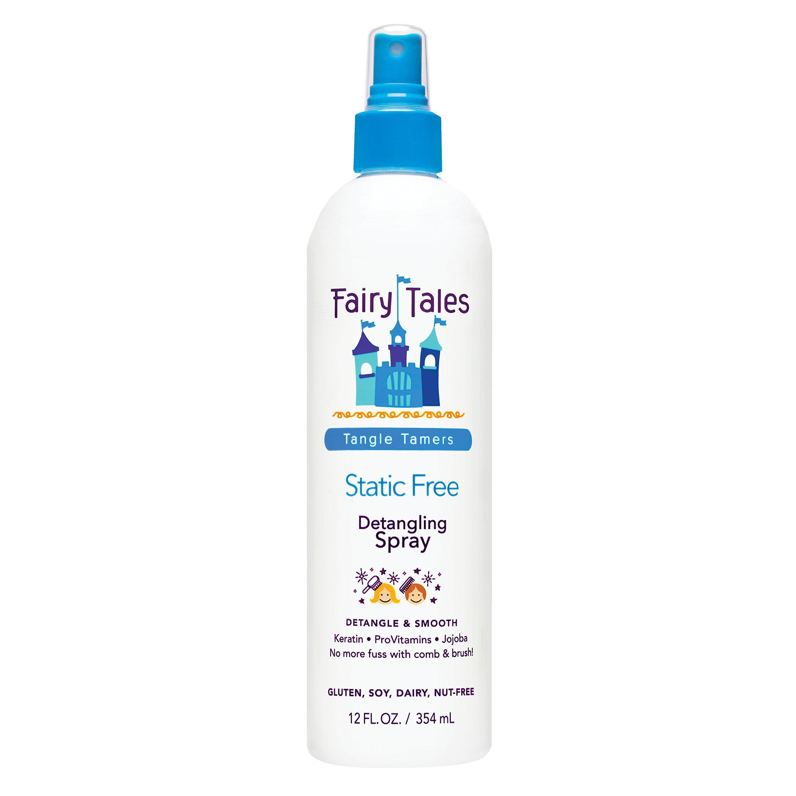 Fairy Tales Tangle Tamer Static Free Detangling Spray - Detangler Spray for Kids - Paraben Free, Sulfate Free, Gluten Free, Nut Free - 12 oz