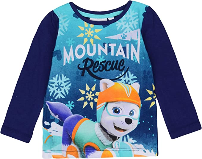 Paw Patrol Characters Skye Girls Long Sleeve Top T-Shirt 100/% Cotton 2-6 Years