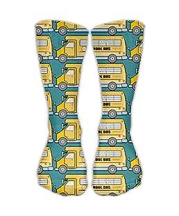 Louis School Bus Unisex Novelty Crew Socks