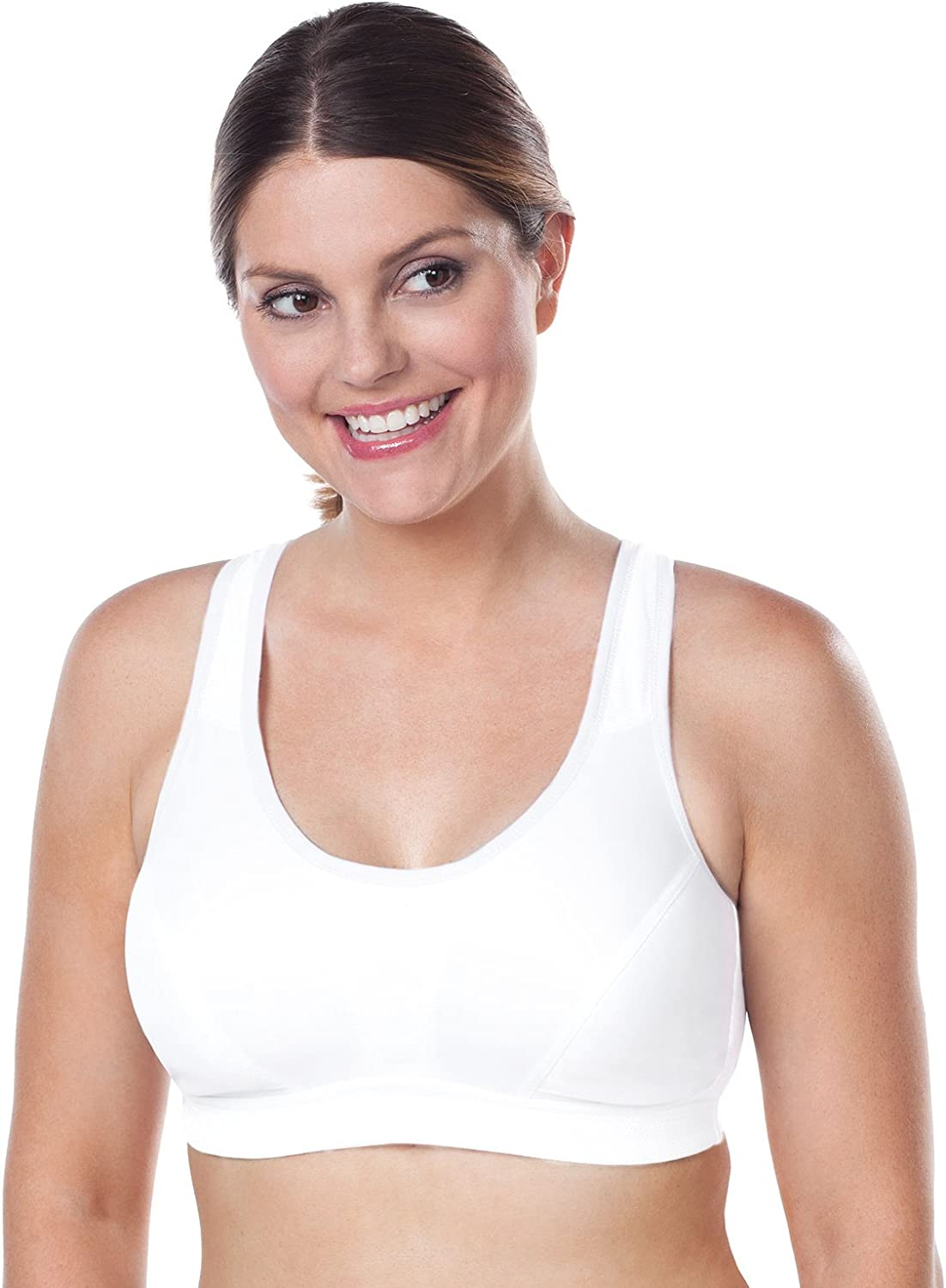 Leading Lady Womens Plus-Size Sports Bra with Crossover Straps Leading Lady Women/'s Intimate Apparel 5430