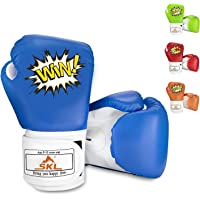 SKL Kids Boxing Gloves 4oz Training Gloves for Children Cartoon Sparring Boxing Gloves Training Mitts Junior Punch PU…