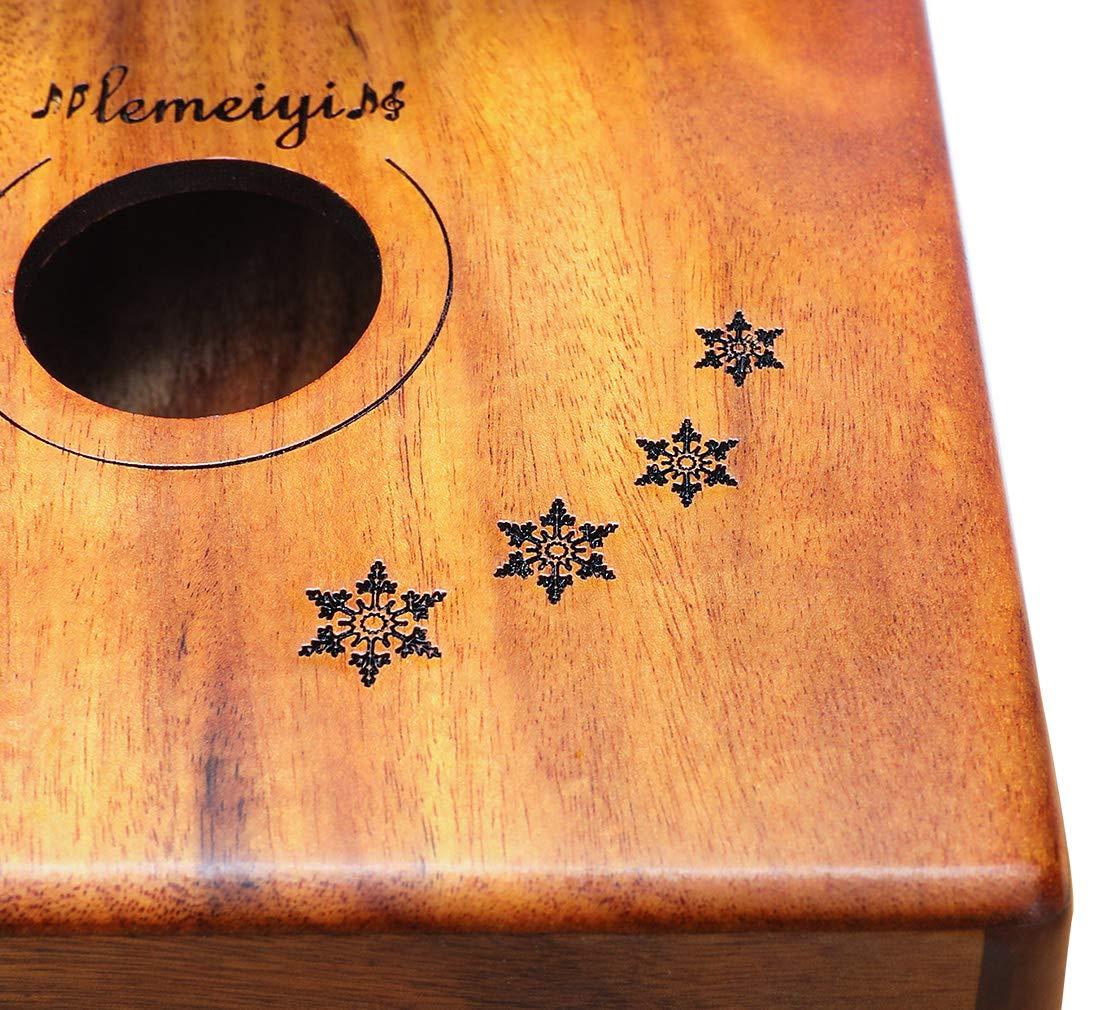 LEMEIYI Kalimba 17 Key with Mahogany,Portable Thumb Piano Mbira Sanza of Wooden Attached Ore Metal Tines with Kalimba Case by Lemeiyi (Image #4)