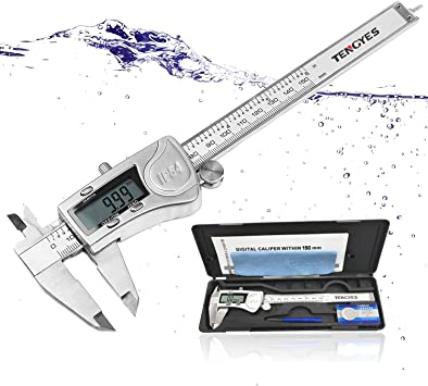 Digital Caliper 6 In Measuring Tool Stainless Steel  Electronic Vernier Calipers
