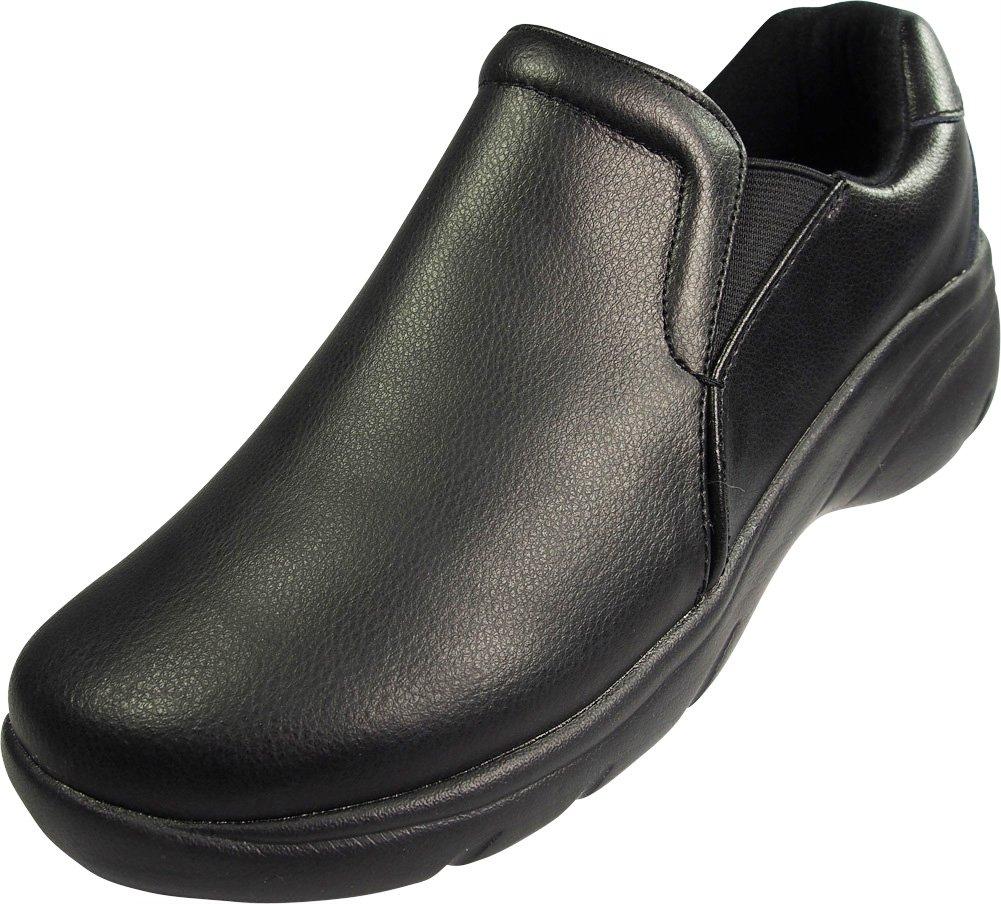 Natural Uniforms Ladies Leather Work Medical Nurse Shoe, Black 39746-7B(M) US