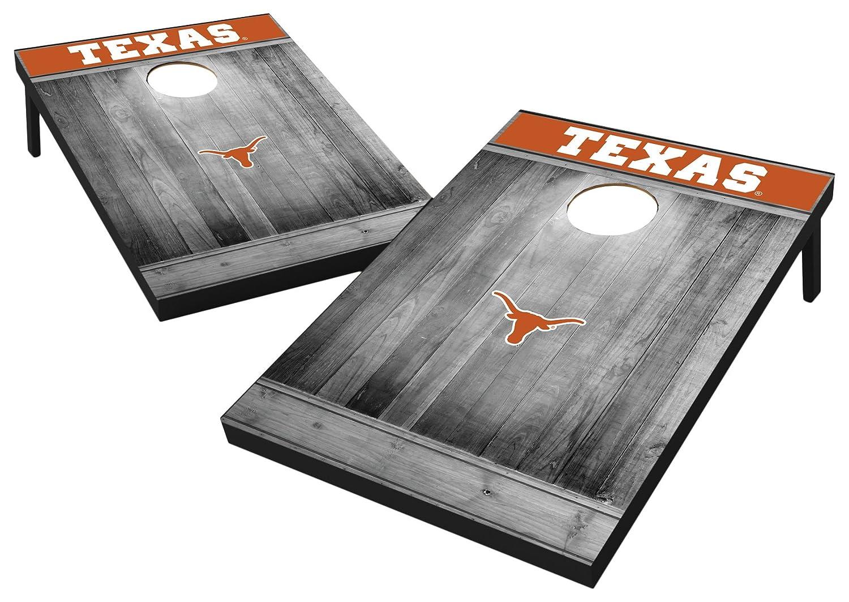 Texas Longhorns Texas Longhorns Wild Sports 2'x3' MDF Wood NCAA College Cornhole Set  Grey Wood