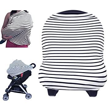 Nursing Breastfeeding Cover Scarf - Baby Car Seat Canopy Shopping Cart Stroller Carseat  sc 1 st  Amazon.com & Amazon.com: Nursing Breastfeeding Cover Scarf - Baby Car Seat ...