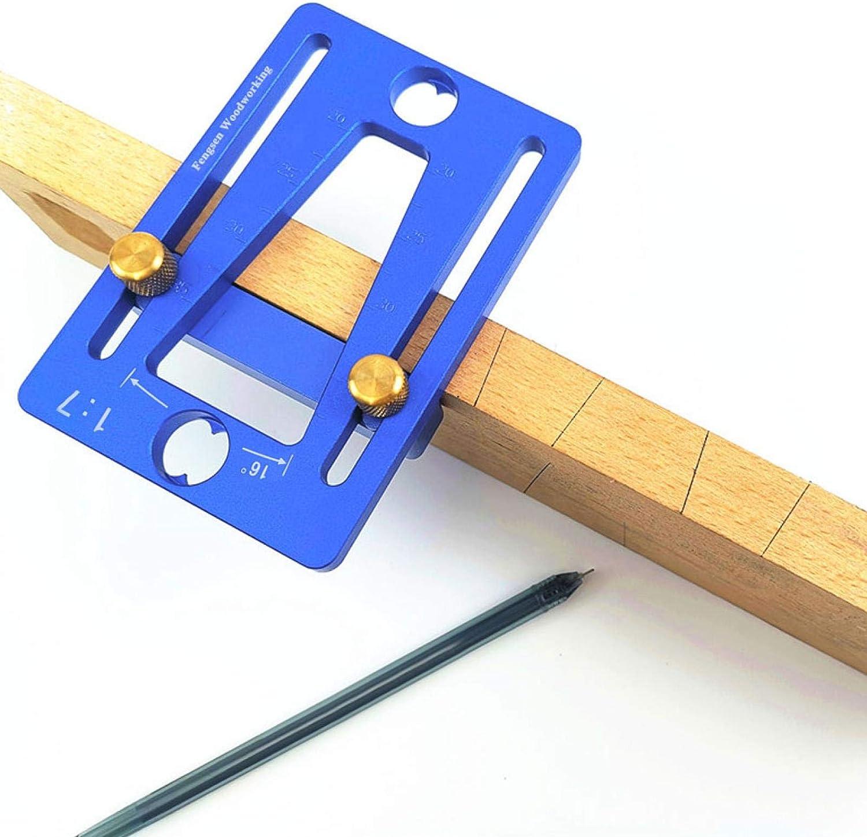 Gabarit de guide de queue daronde de menuiserie Outil de marqueur de queue daronde Jauge de scriber de travail du bois