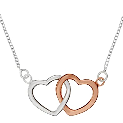 a9ee354f5d Amazon.com: Silverly Women's .925 Sterling Silver Rose Gold Plated ...