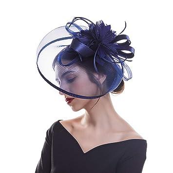 a8e3e01cc Fascinator Hat Mesh Flower Headwear – AWAYTR Tea Party Hats for Woman Mesh  Derby Church Cap...