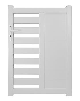Autour du Portail a002dp0535 Portillon battant en PVC, Blanc ...