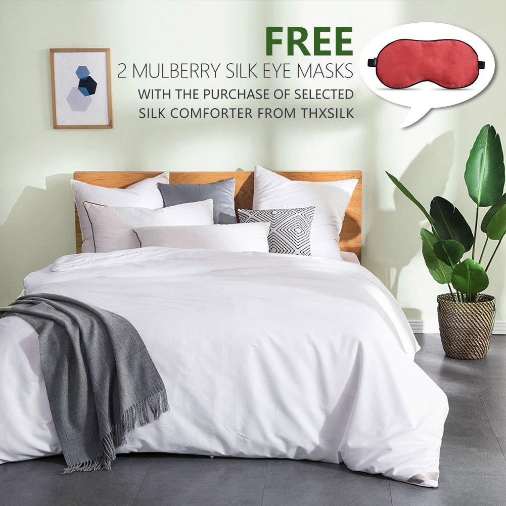 Amazon com thxsilk silk comforter for summer with cotton shell silk filled comfortersilk quilt silk duvet ultra soft hypoallergenic