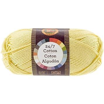Lion Brand Yarn Company Hilo de 100% algodón, Color limón: Amazon.es: Hogar