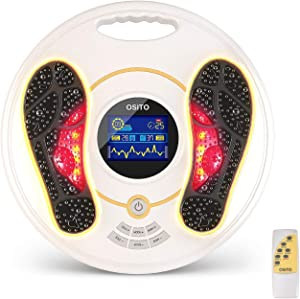 EMS Foot Circulation Device- Foot & Leg Massager Stimulator-Reducing Legs, Feet Aches and Pains with Increased Circulation