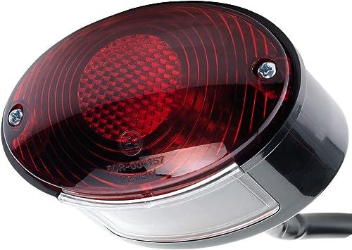 Motorrad Rücklicht Bremslicht Mit Kennzeichenleuchte Cateye Cat Eye E Geprüft 12v Auto