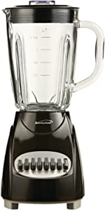 Brentwood JB-920B 12-Speed + Pulse Blender with Glass Jar, Black