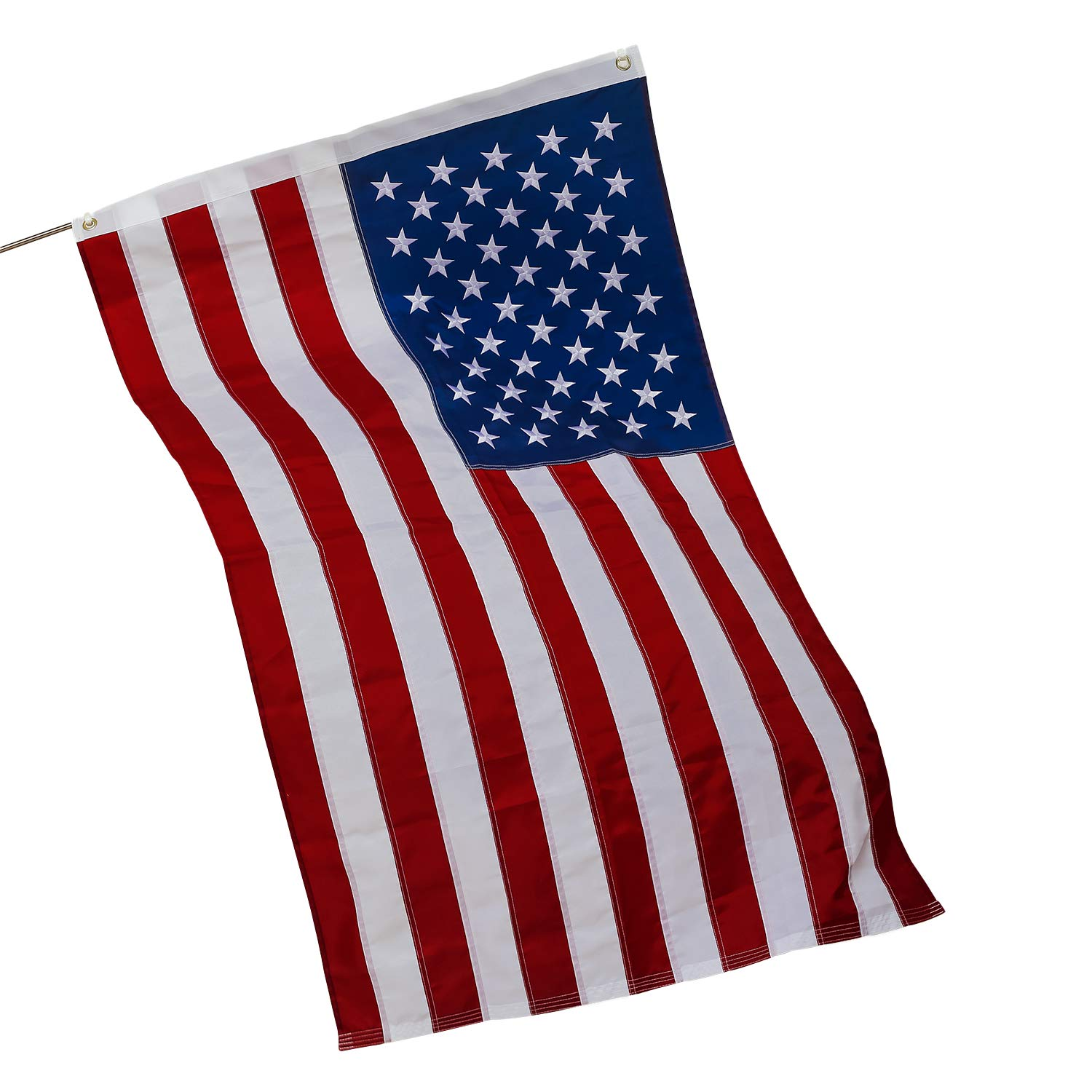 Fan Desen.American Flag 3x5 Ft,Waterproof USA Flag,Deluxe Embroidered Stars,Sewn Stripes and Brass Grommets,Heavy-duty US Flag For Indoor And Outdoor Use