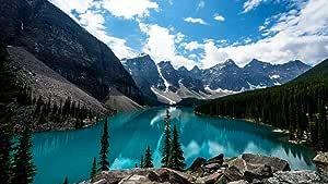 ZHONGYIDERUN Montaña Lago Cima Valle Nevadopintura por