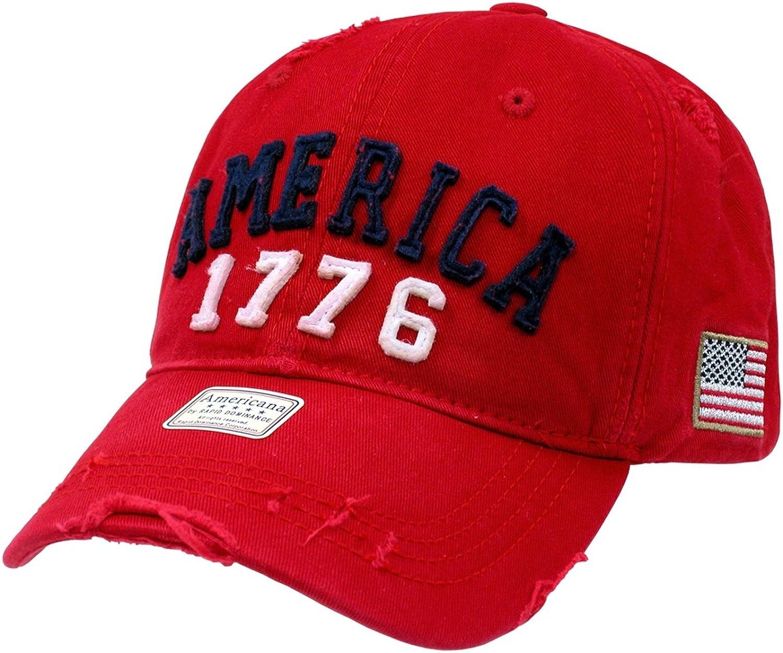 Adjustable, VINATHLETIC Military CAPS Baseball Cap Rapid Dominance US Cap Vintage Cotton Twill U.S