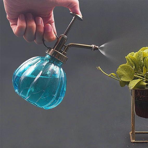 owikar cristal agua Spray Botella Vintage calabaza botella de Spray de riego boquilla de cobre Bonsai planta flores jardinería regadera botella Pot ducha ...