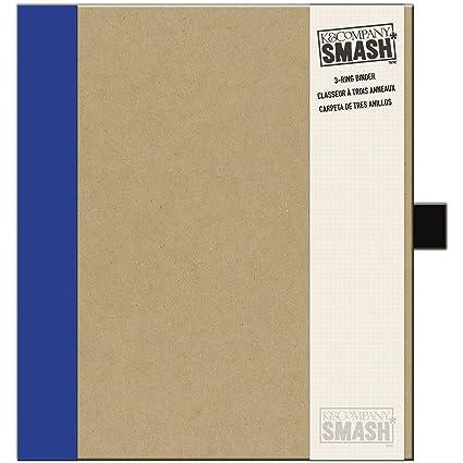 amazon com k company smash binder kraft with blue 11 5 x 10 inch
