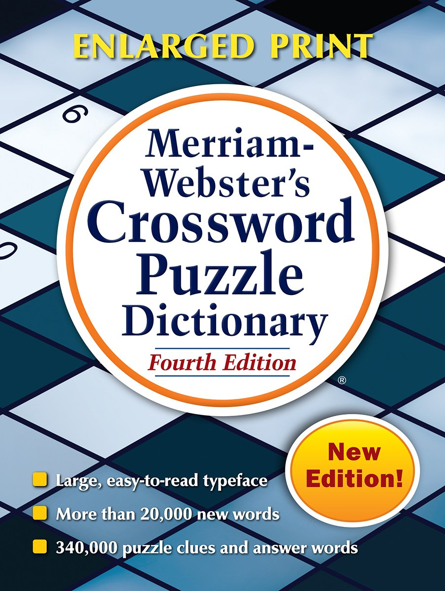 Merriam Websters Crossword Puzzle Dictionary 4th Ed New Enlarged