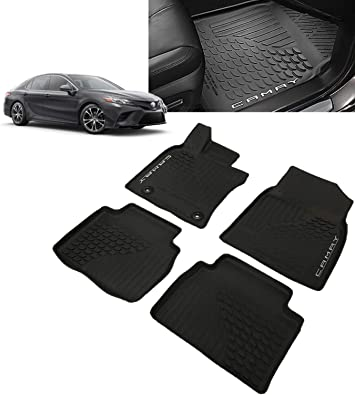 Honshine Car Floor Mats for Toyota Camry,All Weather Odorless Front /& Rear Seating Full Set Protection Standard 2018-2020 Toyota Camry Floor mat Leather Floor Mats,Luxury Toyota Camry Floor Mats