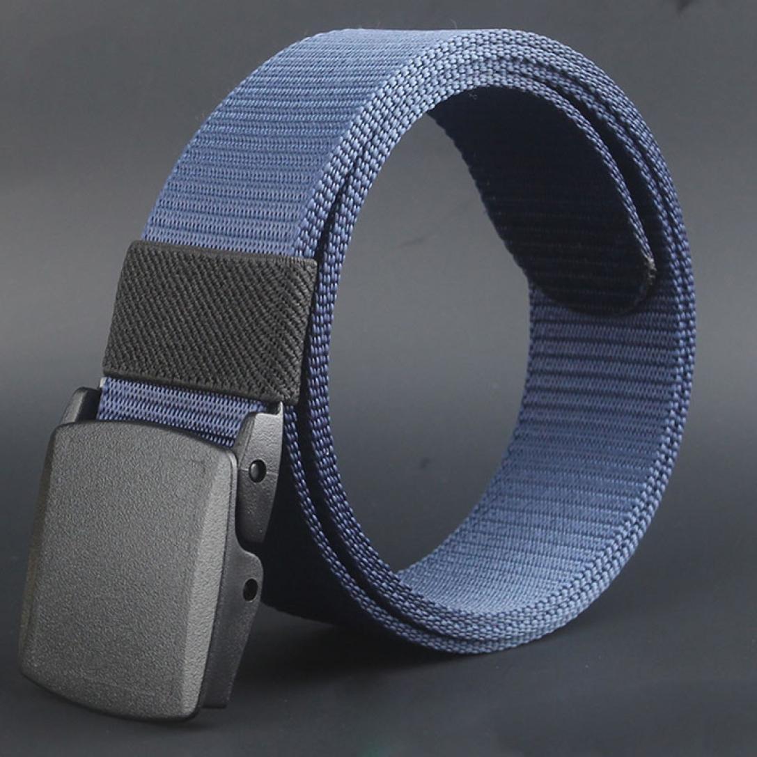 Mens Canvas Belt D Charberry Solid Color Canvas Belt Wild-Men-Canvas-Belt-Hypoallergenic-Metal Free-Plastic-Automatic-Buckle