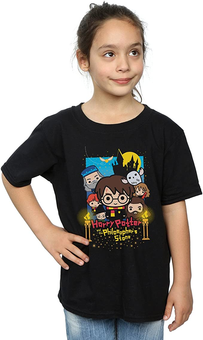 HARRY POTTER niñas Philosophers Stone Junior Camiseta 5-6 Years Negro: Amazon.es: Ropa y accesorios
