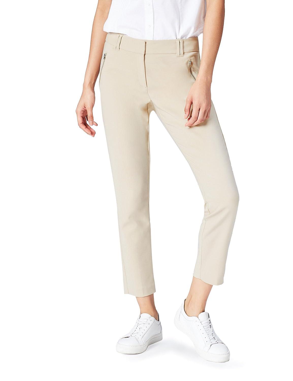 FIND Pantalón Entallado Con Bolsillos de Cremallera para Mujer