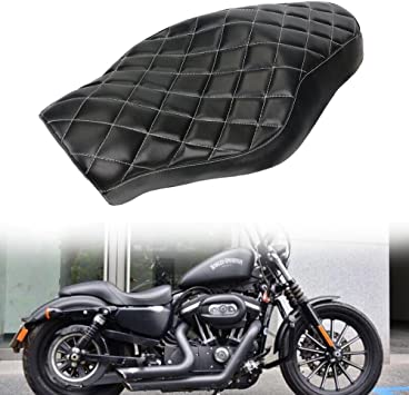 Driver Passenger Seat Cushion Two Up For Harley Sportster XL 1200 883 Motorcycle