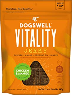 product image for DOGSWELL Vitality 100% Meat Jerky Dog Treats, Made in The USA Only Grain Free, Protein