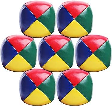 Elcoho 7 Pack Beginners Juggling Balls Bolas de Malabares fáciles ...