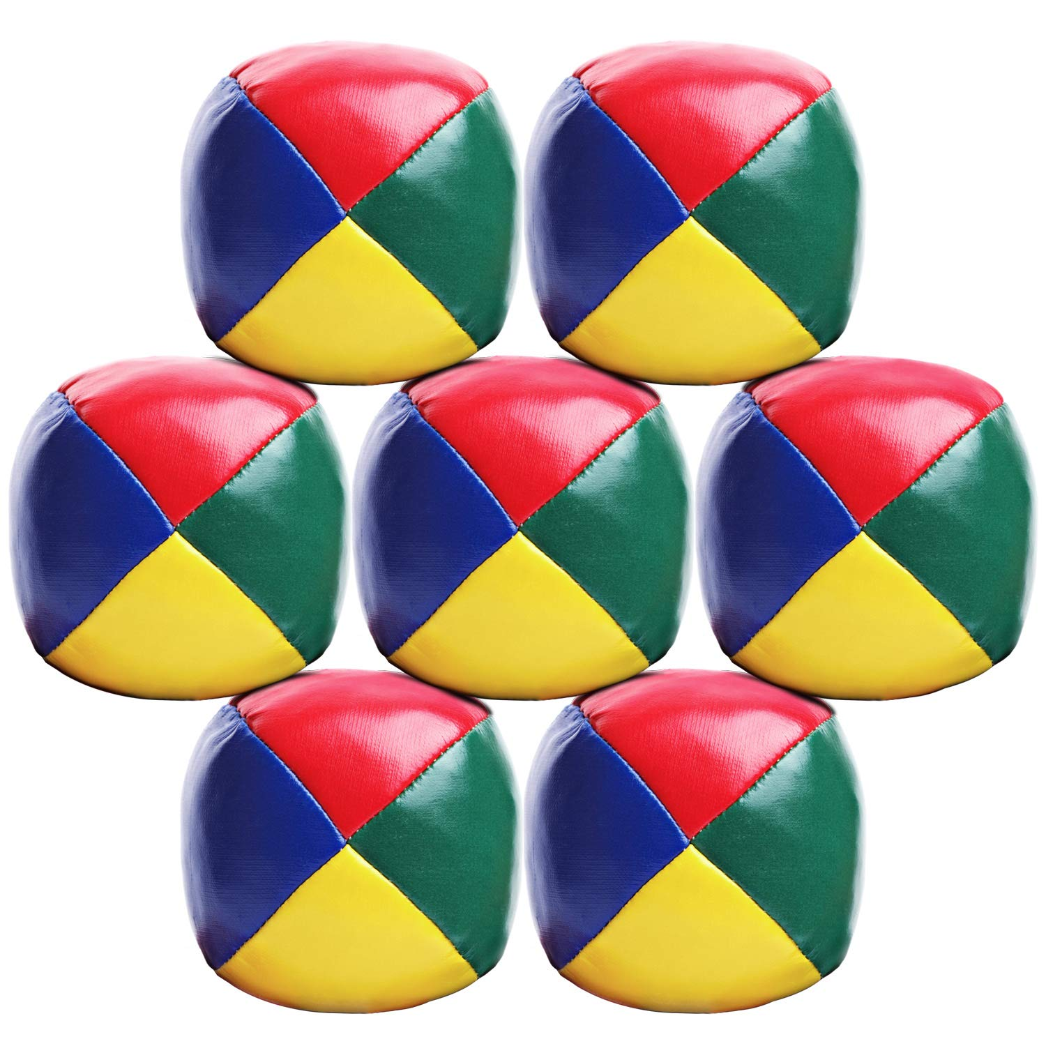 Elcoho 7 Pack Beginners Juggling Balls Durable and Soft Easy Juggle Balls