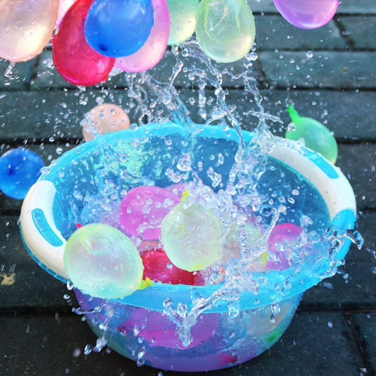 Wasserballons 222 Ballons ZHSHYPG Wasserbomben k/önnen Wasserballons die sich ohne Knoten selbst abdichten problemlos in einer Minute f/üllen